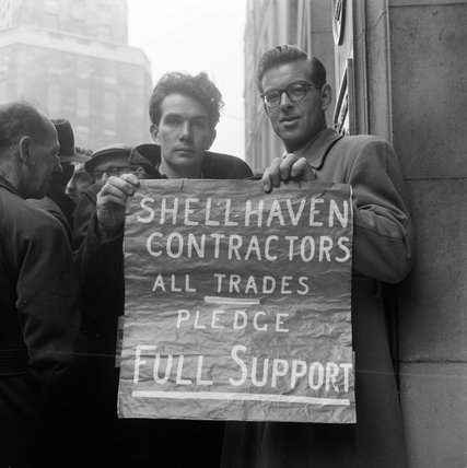 Engineering Workers Demonstration; 1955