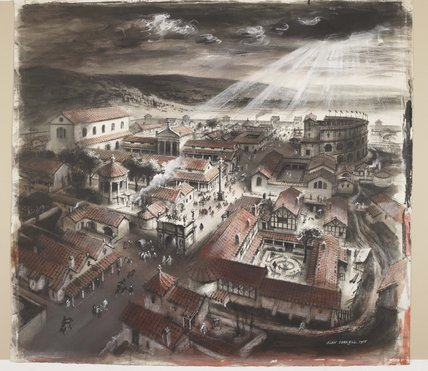 Reconstruction of Verulamium (St. Albans): c.150 AD