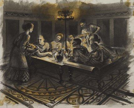 Romano-British dinner; c.150 AD