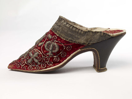 One of a pair of  Woman's mules; c1660