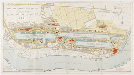 Port of London Authority Plan of the Royal Group of Docks: 1961