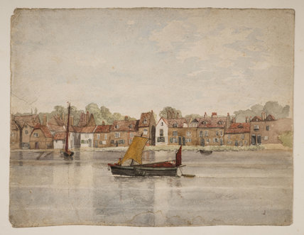 Wandsworth from the river 1852