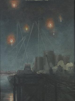 Night Raid over London c 1941