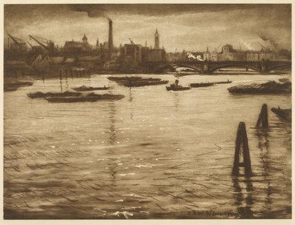 The Southwark Riverfront near Blackfriars Bridge