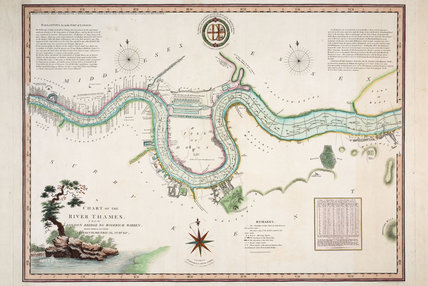A Chart of the River Thames from London bridge to Woolwich Warre