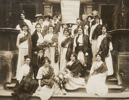 Suffragettes welcoming Mary Phillips on her release from Hollowa