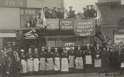 Eleven members of the Women's Social and Political Union: c.1910
