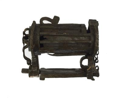 Large iron padlock: 13th century
