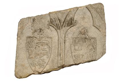 Carved stone from Cheapside Cross: late 13th century