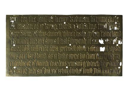 Memorial brass: 1528