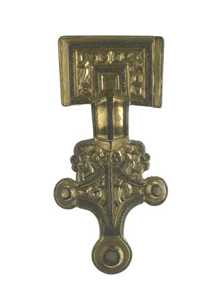 Gilded silver brooch: early 6th century