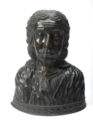 Hollow bronze bust - reliquary: 16th century
