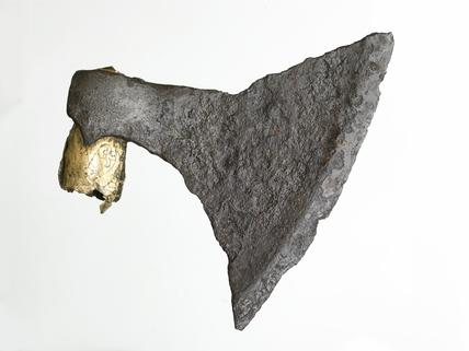 Viking  triangular axe blade: late 10th - mid 11th century