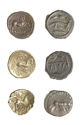 Selection of Iron Age coins
