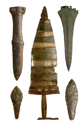 Selection of pre-historic daggers