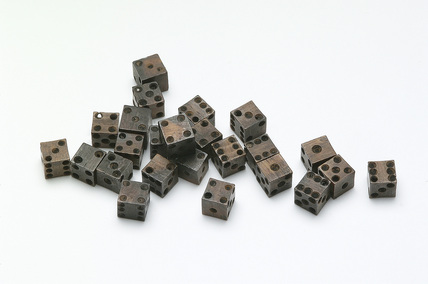 Twenty four small bone dice: 15th century