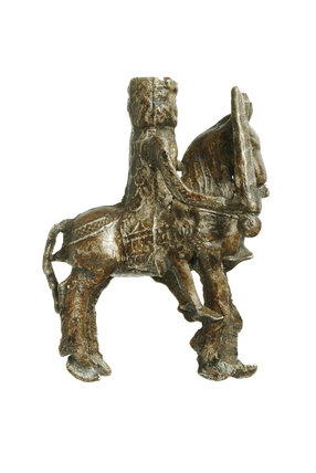Toy knight on horseback: Late 13th-early 14th century