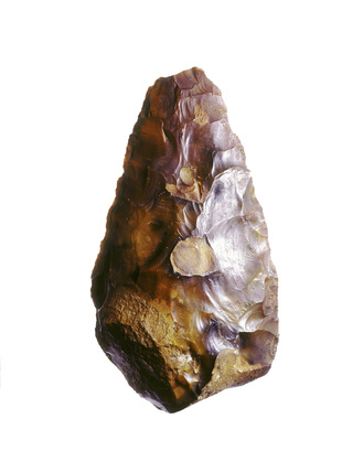 Lower palaeolithic flint hand-axe
