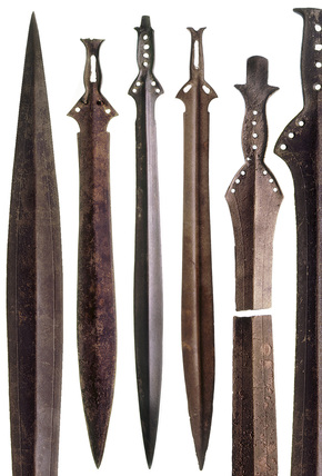 Selection of bronze-age swords