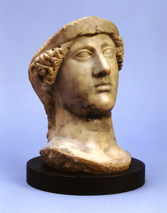 Roman marble head of Minerva