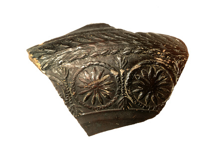 Fragment of a Roman decorated bowl
