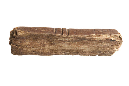Fragment of a wooden tallystick: 13th century
