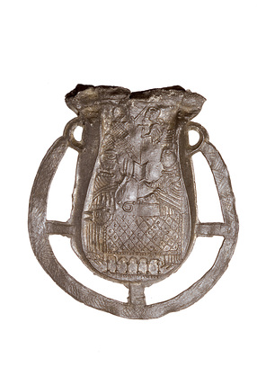 Pewter ampulla of St. Thomas Becket: 12th-13th century