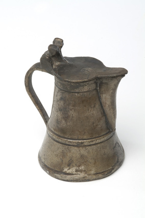 Small pewter cruet or jug: 16th century