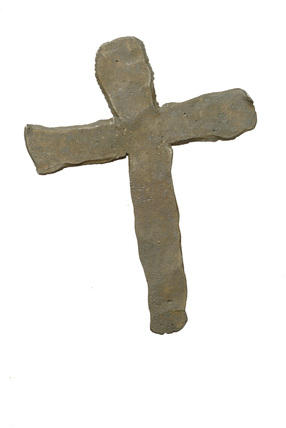 Lead alloy cross: 18th century