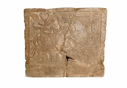 Rectangular grave slab: 11th century