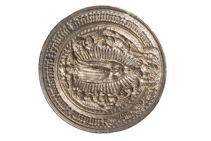 Circular silver seal: 15th century