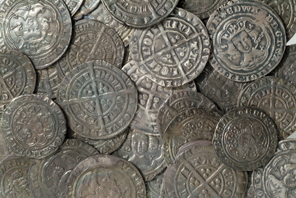 Medieval silver coins: 14th century