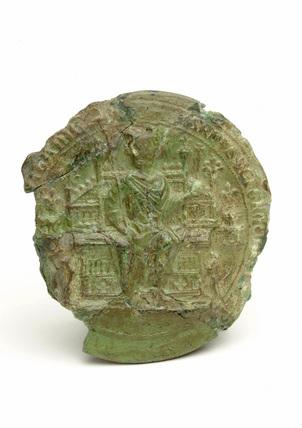 Wax seal impression: 14th century