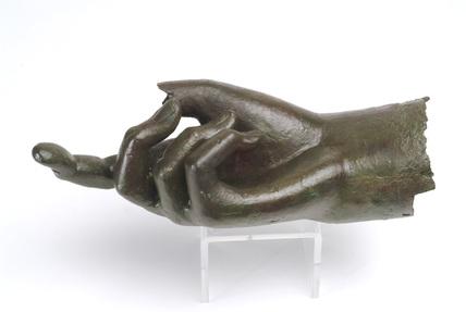 Replica of a Roman bronze hand of Hadrian
