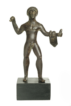 Full frontal statuette of Hercules: 1st - 5th century