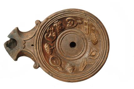 Roman volute picture lamp