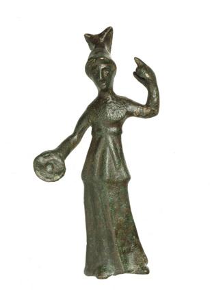 Roman bronze statuette of Minerva