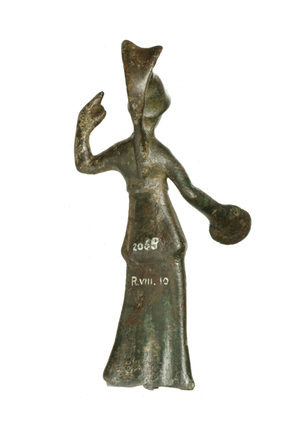 Reverse of statuette of Minerva: 1st - 5th century