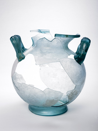 Roman glass cremation urn