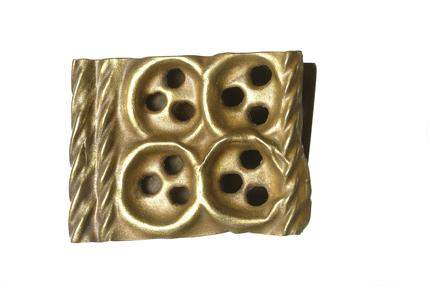 Copper alloy belt end: 15th century