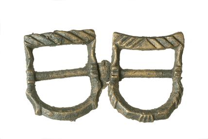 Copper alloy buckle: 15th -16th century