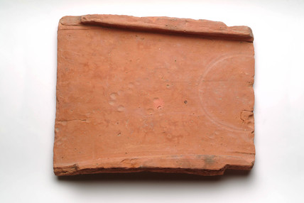 Complete Roman roof tile