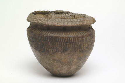 Neolithic Peterborough ware bowl