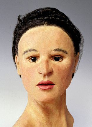 Reconstructed Roman female head