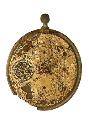 Gild brass verge watch, signed G. Ferlite: 17th century