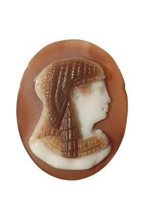 Roman onyx cameo of goddess Isis