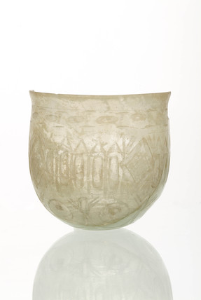 Roman colourless facet-cut bowl: 2nd-3rd century