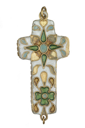Reliquary cross of croisonne enamel: 16th - 17th century