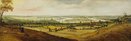 Prospect of London and the Thames from above Greenwich: 1620-1630