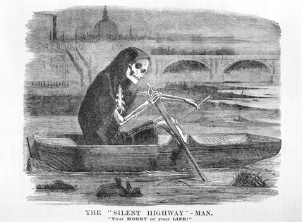 The 'Silent Highway' - Man. 'Your money or your life': 1858